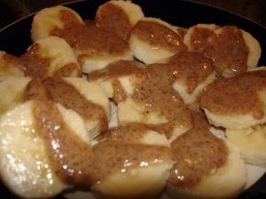 banana slice with ab