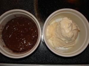 microwave cake ice cream